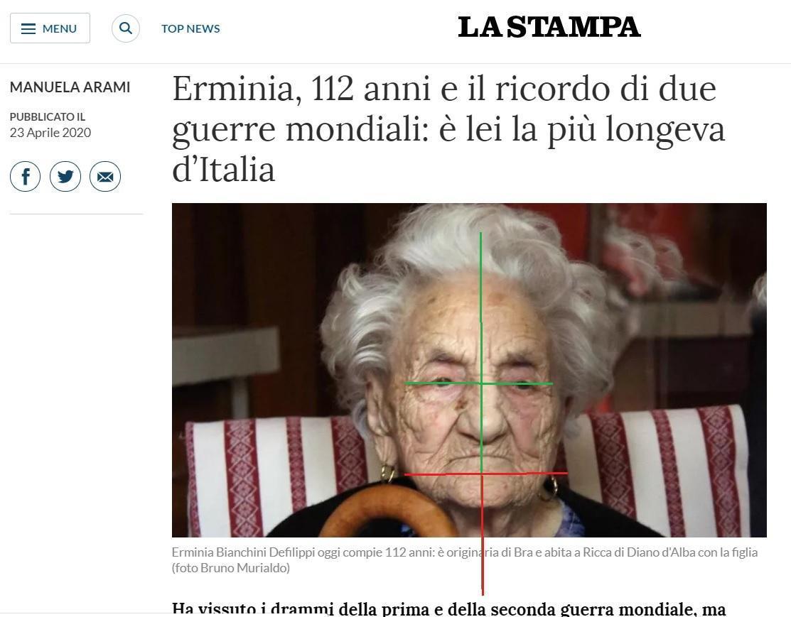 I 112 anni di nonna Erminia, in Equilibrio Meccanico Abituale del corpo…
