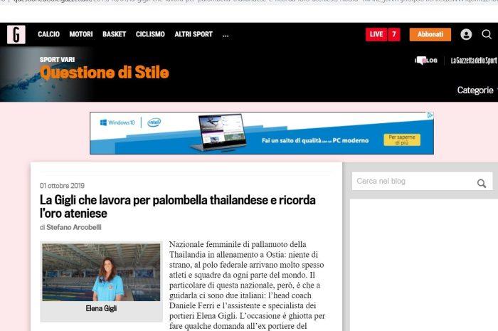 La nostra Elena (Elena Gigli) ci racconta, in un'intervista apparsa sulla Gazzetta…